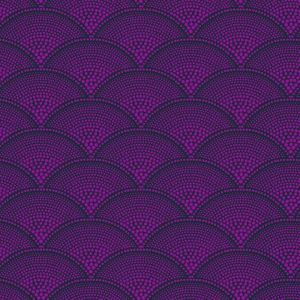 F111/8030-CS FEATHER FAN Magenta Cole & Son Fabric