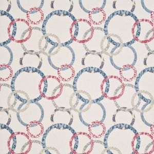 PW78019-3 ROUNDEL Cherry Denim Cream Baker Lifestyle Wallpaper