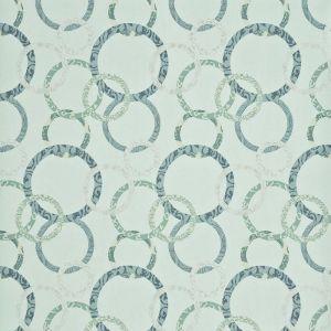 PW78019-5 ROUNDEL Aqua Teal Silver Baker Lifestyle Wallpaper