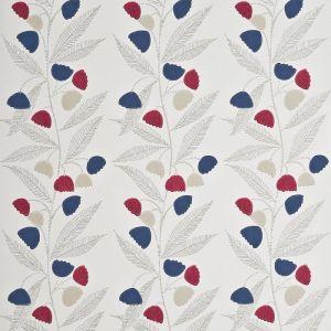 PW78020-3 BELL FLOWER Cherry Indigo Buttermilk Baker Lifestyle Wallpaper