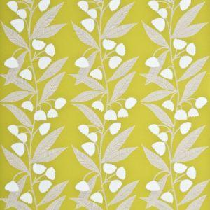 PW78020-8 BELL FLOWER Lime Ivory Baker Lifestyle Wallpaper