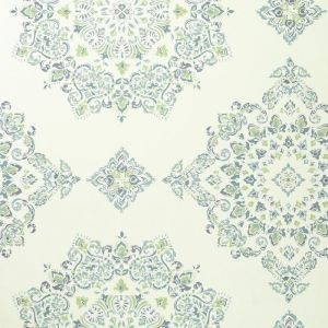 PW78034-3 PARVANI Teal Lime Baker Lifestyle Wallpaper