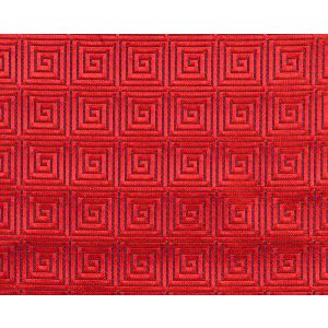 A9 00041871 ENDLESSTIME Coca Cola Red On Deep Sky Scalamandre Fabric