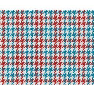 B8 00020656 ELMER Red Aqua Scalamandre Fabric
