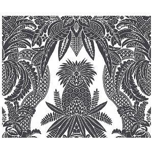 CL 000116482 EAST INDIA Bianco, Nero Scalamandre Fabric