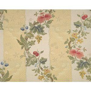 CL 000126401 VILLA LANTE STRIPE Multi On Jasmine Bisque Scalamandre Fabric