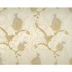 CL 000126715 VIVALDI Silver Gold On Ivory Scalamandre Fabric