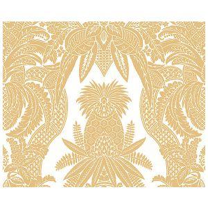 CL 000416482 EAST INDIA Bianco, Oro Scalamandre Fabric