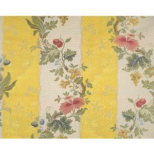 CL 000426401 VILLA LANTE STRIPE Multi On Yellow Bisque Scalamandre Fabric