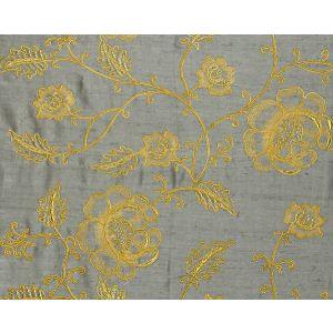CL 000426818 FLOWDERY Gold On Grey Scalamandre Fabric