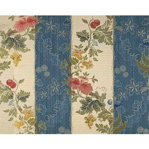 CL 000526401 VILLA LANTE STRIPE Multi On Prussian Blue Bisqu Scalamandre Fabric