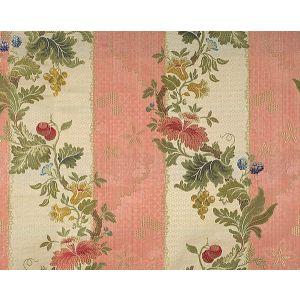 CL 000626401 VILLA LANTE STRIPE Multi On Rose Scalamandre Fabric