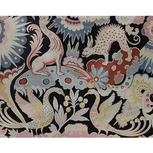 H0 00011570 LES CHIMERES FD Noir Scalamandre Fabric