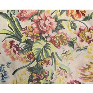H0 00011594 LYS IMPERIAL Fond Creme Scalamandre Fabric