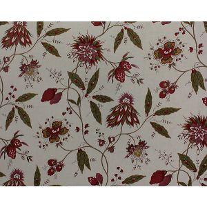 H0 00011619 FRAISES SAUVAGES Multi On Cream Scalamandre Fabric