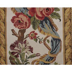 H0 00011674 LESZCZYNSKI Red Blue On Ivory Scalamandre Fabric