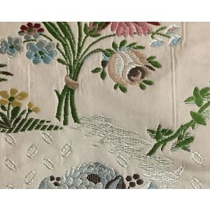 H0 00024004 LAMPAS POUSSIN Blanc Scalamandre Fabric