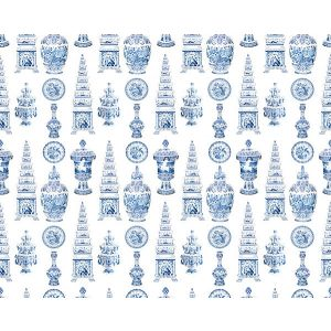 N4 0001ICON ICONS Blue Scalamandre Fabric