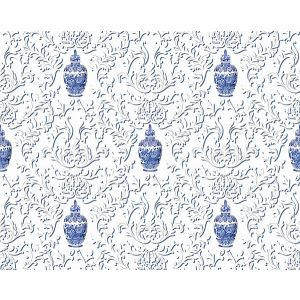 N4 0001LION LION JAR Blue Scalamandre Fabric
