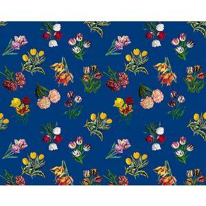 N4 0002ETUD ETUDES DE FLEURS Blue Scalamandre Fabric