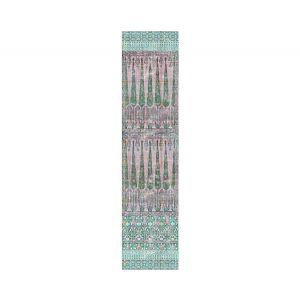 N4 1019TO1C TOPKAPI GARDEN COTTON Green Pink Scalamandre Fabric