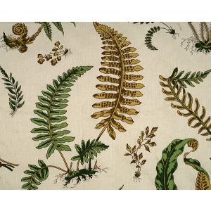 16378-001 ELSIE DE WOLFE Greens On Off White Scalamandre Fabric