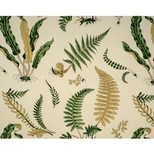 16425-001 ELSIE DE WOLFE Greens On Off White Scalamandre Fabric