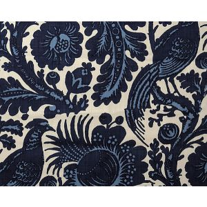 6218M-001 RESIST PRINT Light Dark Blue On White (Do Scalamandre Fabric