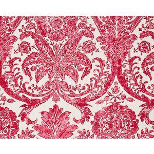 16557-002 LUCIANA DAMASK PRINT Raspberry Scalamandre Fabric