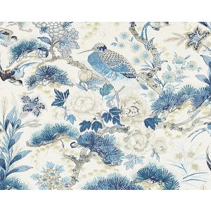 16601-002 SHENYANG LINEN PRINT Porcelain Scalamandre Fabric