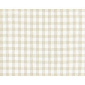 27166-002 SWEDISH LINEN CHECK Flax Scalamandre Fabric