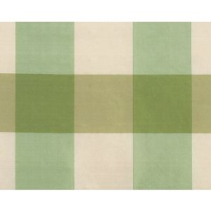 36291-002 WOODLAND CHECK Green Ivory Scalamandre Fabric