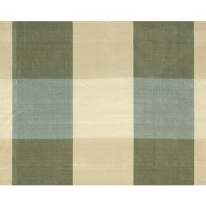36291-003 WOODLAND CHECK Blue Sage Cream Tan Scalamandre Fabric