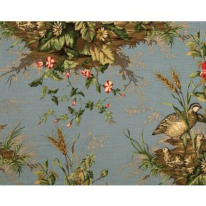 16310-004 EDWIN'S COVEY Multi On London Blue Scalamandre Fabric