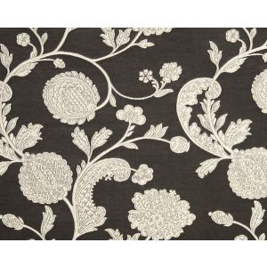 26849-004 BOMBAY LACE Ivory On Bitter Chocolate Scalamandre Fabric