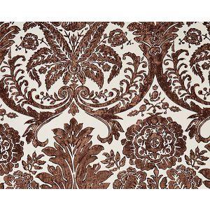 16557-005 LUCIANA DAMASK PRINT Espresso Scalamandre Fabric