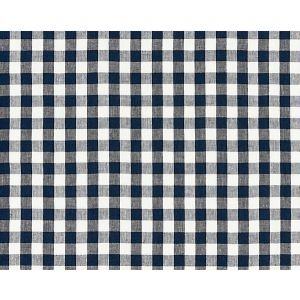 27166-005 SWEDISH LINEN CHECK Indigo Scalamandre Fabric