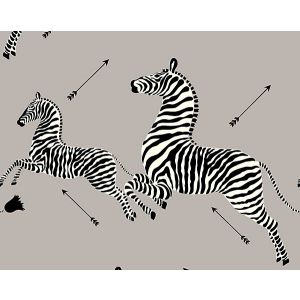 SC 0010WP81388M ZEBRAS Silver Scalamandre Wallpaper