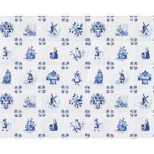 WNM 0001TILE TILE PLAY Blue Scalamandre Wallpaper