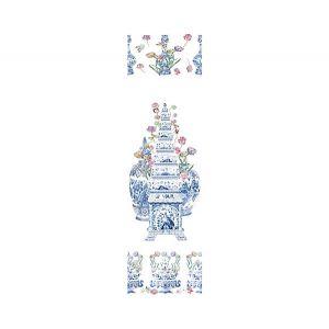 WNM 0001TULI TULIPIERE FLOWERS White Scalamandre Wallpaper
