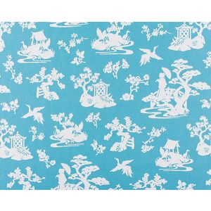 WR 00022953 LILY POND Turquoise Old World Weavers Fabric