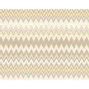 WRK 0061ZIGZ ZIG ZAGS Gold Missoni Home Wallpaper