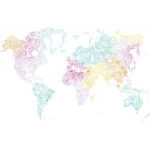 WSB 00190630 WORLD MAP Multi Sandberg Wallpaper