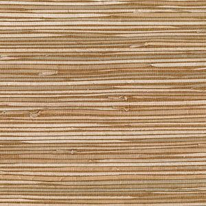53-65620 Masuyo Grasscloth Light Brown Brewster Wallpaper