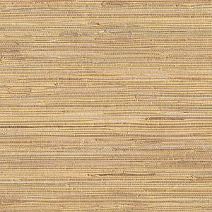 53-65622 Mayu Grasscloth Taupe Brewster Wallpaper