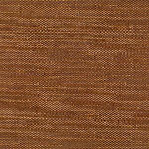 53-65627 Moriko Grasscloth Brown Brewster Wallpaper