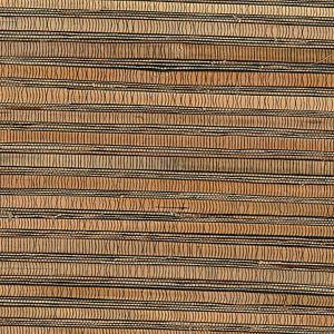 53-65630 Naomi Grasscloth Brown Brewster Wallpaper