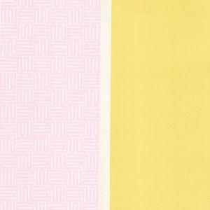 310814 Geo Square Stripe Yellow Brewster Wallpaper