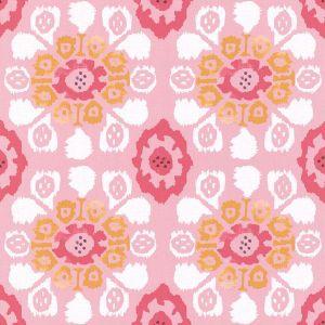 330236 Valencia Ikat Floral Pink Brewster Wallpaper