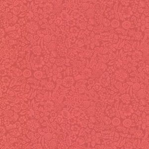 330213 Majorca Vivacious Floral Relief Red Brewster Wallpaper